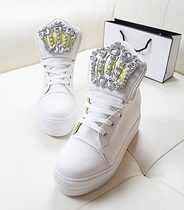 秋季新款糖果色高帮帆布鞋可爱兔耳朵女鞋子韩版潮学生休闲鞋单鞋 价格:18.70