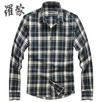 罗蒙衬衫 男 长袖格子衬衫纯棉男士衬衣 男装秋装2013新款335250 价格:139.00