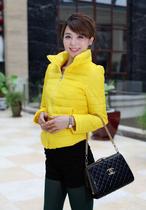 2013冬新款韩版短款女棉服休闲夹克棉衣立领显瘦糖果色棉袄9-002 价格:129.00