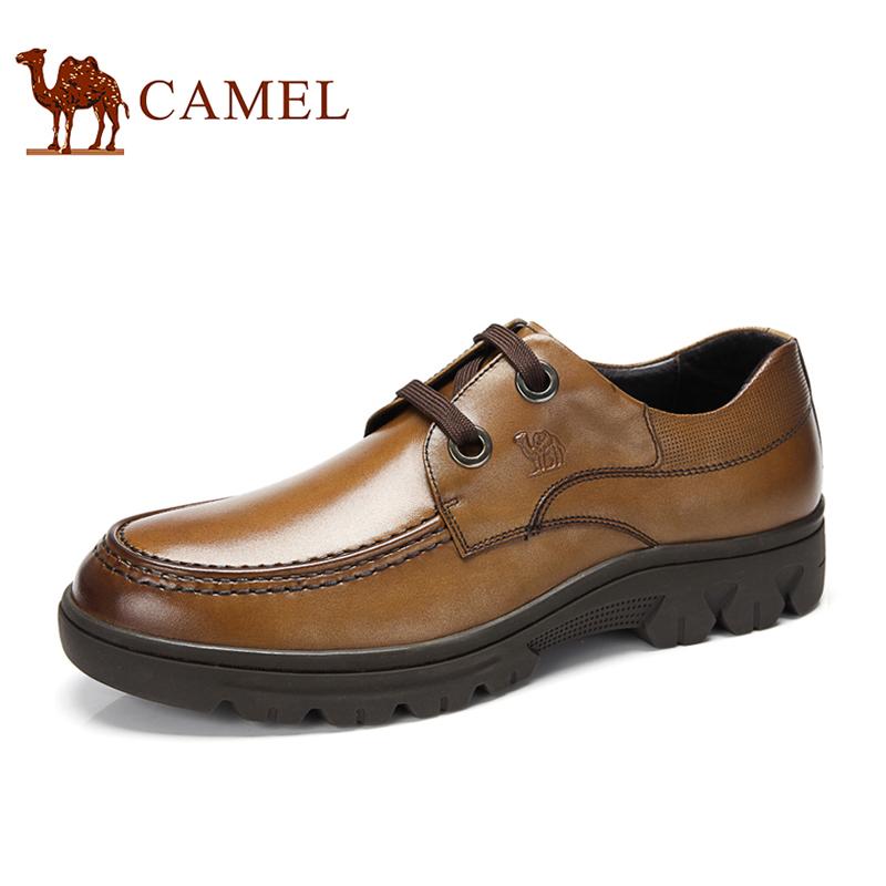 camel骆驼正品 2013秋季新款 真皮牛皮 时尚商务休闲通勤皮鞋男鞋 价格:398.00