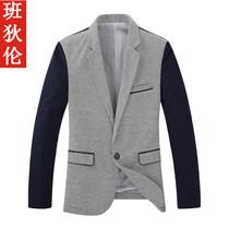 班狄伦 2013秋装外套新款 男士韩版针织小西装 一粒扣修身小西服 价格:228.00