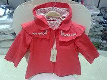 外贸出口法国KENZO品牌原单女童秋季风衣夹衣连帽斗篷外套中长款 价格:79.00
