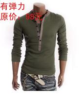 男装时尚韩版假两件套开长筒休闲长袖男士T恤 亚洲版品牌设计特价 价格:42.00
