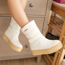 女鞋子新款2014秋冬防水台中跟靴平跟厚底松糕鞋女士雪地靴女短靴 价格:69.00