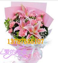 康乃馨百合花|三八妇女节母亲节送花|张家口鲜花速递|张家口花店 价格:130.00
