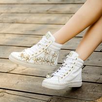 欧洲站DSquared2013最新款 潮鞋 真牛皮 花朵 高帮 休闲鞋系带女 价格:325.00