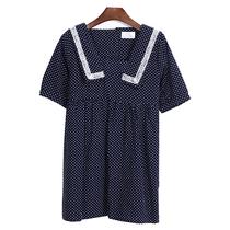 2013韩版潮stylenanda复古学院风大方领海军领娃娃中袖韩版连衣裙 价格:56.00