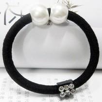莎拉韩馆日韩版韩国女孩女人珍珠闪钻发绳发圈超好弹力 价格:1.00