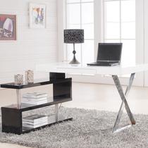 宜家家居 时尚白色钢琴烤漆转角书台电脑桌书桌办公桌书架组合 价格:1239.00