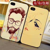 新款壳彩绘磨砂iphone4s 手机壳iphone4手机壳苹果4代外套潮男女 价格:18.00