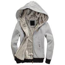 法欧利 秋冬装新款加厚卫衣 男士连帽保暖外套 毛内胆青少年帽衫 价格:89.00