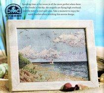 正品法国DMC十字绣套件 卧室摆件小幅 海之遐想 配珍珠浅蓝色绣布 价格:39.00