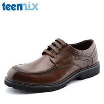 2013新款 天美意男鞋 商务休闲 专柜正品 男士系带皮鞋 真皮 特价 价格:208.00