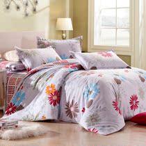 华锦添家纺 全棉 四件套 时尚床上用品家纺 新一代喷气100%长绒棉 价格:187.54