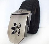 香港IT代购 阿迪达斯 帆布腰带三叶草户外运动腰带 男士钢头皮带 价格:300.00