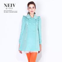 2013秋冬女装新款 欧伊洋正品 网络专供 韩版羊毛呢大衣WD3D9201 价格:599.00