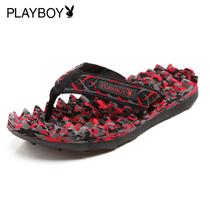 花花公子Playboy 夏季男拖鞋 男士人字拖拖鞋 男凉拖 按摩拖鞋 价格:80.00