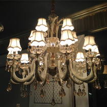 金达美鑫琪朗款后现代锌合金水晶欧式客厅吊灯直径一米大厅吊灯 价格:5898.00