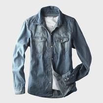 牛仔衬衫 棉先生 秋装男士牛仔衬衫男装外套 男修身牛仔衬衣 长袖 价格:148.00