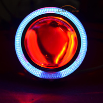 天津一汽夏利无尾幸福使者双光透镜疝气灯天使恶魔眼大灯总成升级 价格:430.00