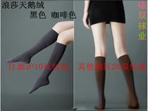 10双包邮浪莎天鹅绒不透肉舞蹈袜及膝半截瘦腿男女中高筒袜丝袜子 价格:2.50