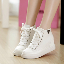 2013夏季新款 韩版潮厚底帆布鞋 内增高松糕高帮休闲鞋单鞋包邮 价格:98.89