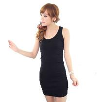 夏螺纹棉无袖紧身长款弹力工字背心裙包臀打底连衣裙一步裙包邮女 价格:19.72