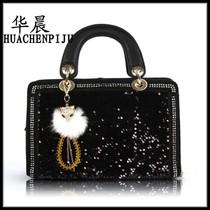 韩版梦幻天使女包定型手提包街头流行气质百搭潮2050-2#珠片系列 价格:128.00