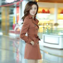瑾妮秋装女款2013新款女装时尚双排扣 风衣 女 外套 春秋韩版修身 价格:235.00