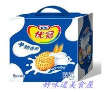 卡夫 达能优冠 牛奶香脆酥性饼干 牛奶味 礼盒装/8小包 1kg1000g 价格:25.00