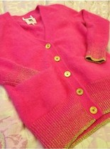 2013秋冬新款安哥拉兔毛毛衣开衫桔子亮色系金丝渐变毛衣外套开衫 价格:175.00