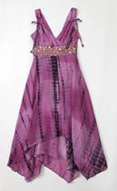特 美国大牌 MAXSTUDIO 2013 丝绵吊染 度假风 镶珠片 连衣裙K715 价格:168.00