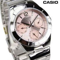 五年双冠店 卡西欧正品 LTP-2069D-4AV 时尚 钢带皮带女士手表 价格:238.00