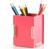 丽珑 笔筒收纳 木质收纳笔筒 DIY创意 桌面收纳盒简约笔筒 A1007 价格:7.00