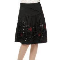 唯曼朵2013春秋新款半身裙中老年刺绣裙子女装A字裙摆裙半截短裙 价格:98.00