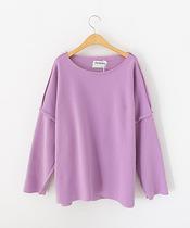 韩版新款 纯色袖子拼接卫衣 个性长袖圆领T恤 女 价格:39.00