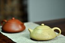 宜兴紫砂壶曲峰茶壶 柔中带刚 西施瓢 荷叶鸟 220cc 随机发一只 价格:3000.00