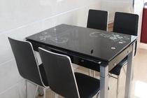 餐桌 钢化玻璃 伸缩 折叠 椅 组合 时尚简约 正方形 桌子 小户型 价格:360.00