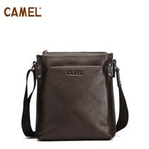 Camel骆驼皮具箱包 头层牛皮 多功能单肩包男包斜挎包包MB157004 价格:318.00