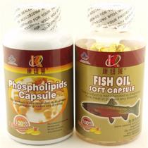 康纽莱 深海鱼油软胶囊+卵磷脂各300粒 冠心病 降高血压血脂正品 价格:88.00