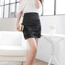 兰熙新款韩版修身a字裙女半身裙秋装时尚中裙优雅显瘦包臀裙子 价格:98.00