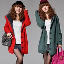 秋冬升级版韩版女装大码加厚长款宽松开衫毛衣外套内加绒 价格:59.00