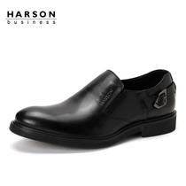 哈森Harson 新品商务正装皮鞋 男士真牛皮单鞋 低帮鞋男鞋MS32050 价格:519.00