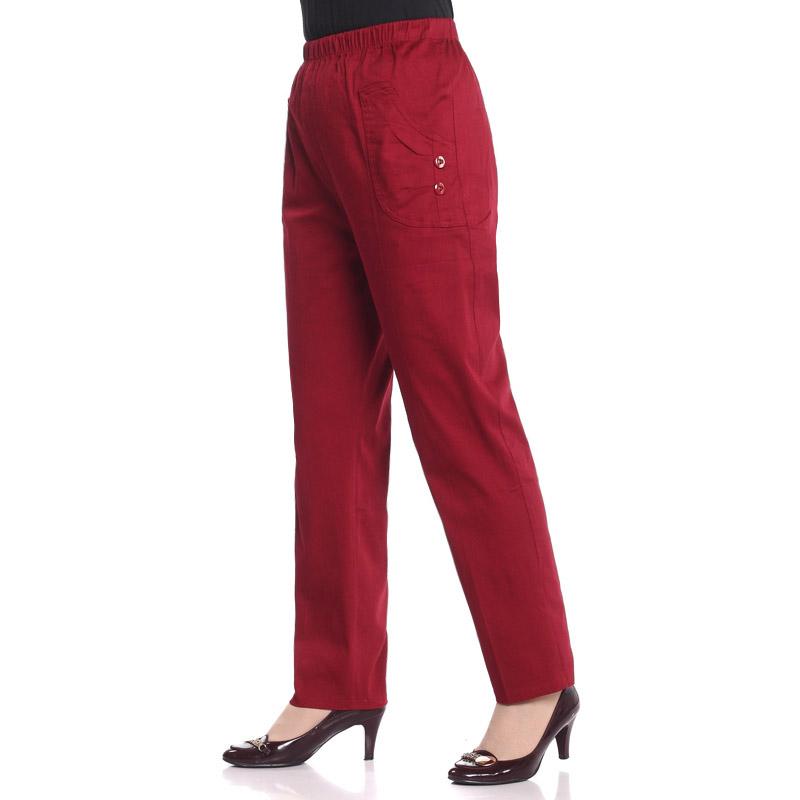 岁月秀 中老年女裤休闲裤 中年女装春装松紧腰妈妈裤大码长裤子 价格:59.00
