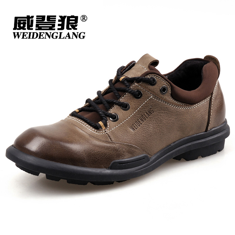 威登狼 秋季日常户外休闲鞋 男士正品真皮鞋流行大码男鞋低帮板鞋 价格:288.00