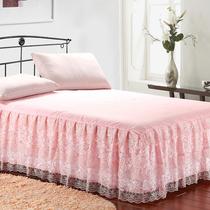 花木 床裙床罩 公主风蕾丝 田园1.8米 三层裙摆 床笠床单 包邮 价格:99.00