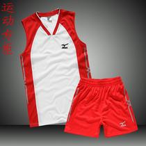 排球服男式套装2013新品运动套装男士无袖V领球衣套装训练比赛服 价格:68.00