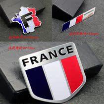 法国汽车车贴 雷诺 标致 雪铁龙世嘉 C5 C2 C4车标贴 尾标 铝标贴 价格:18.00