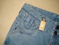 2013新款秋冬正品艾格牛仔裤女代购01302231253841双扣加厚小脚裤 价格:99.50