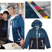周柏豪 陈冠希 潮牌CLOT originals 撞色拼接 锯齿连帽风衣 外套 价格:95.00